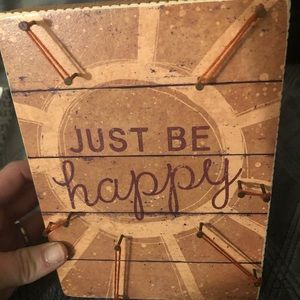 "Wall art "" just be happy """